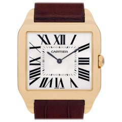Cartier Santos Dumont W2008751; White Dial, Certified and Warranty
