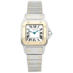 Cartier Santos Galbee 1567 Ladies Stainless Steel and Yellow Gold Watch