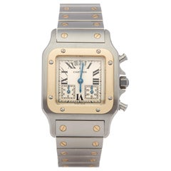 Cartier Santos Galbee 2425 or W20042C403 Stainless Steel and Yellow Gold
