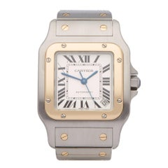 Cartier Santos Galbee 2823 Unisex Stainless Steel and Yellow Gold Watch