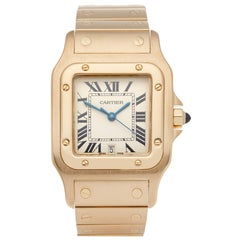 Cartier Santos Galbee 592 Men's Yellow Gold Large Watch
