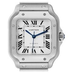 Cartier Santos Galbee Medium Steel Men's Watch WSSA0010 Unworn