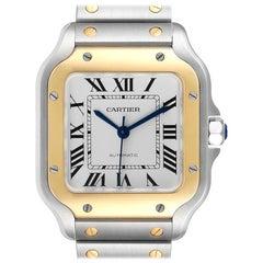 Cartier Santos Galbee Medium Steel Yellow Gold Watch WSSA0010 Unworn
