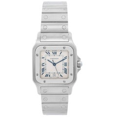 Cartier Stainless Steel Santos Galbee Midsize Quartz Wristwatch