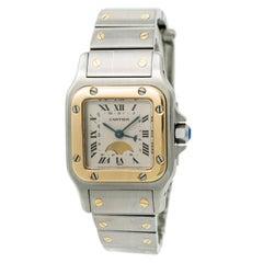 Cartier Santos Galbee Moon Phase 119902 Women's Quartz Watch Two-Tone