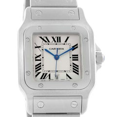 Cartier Santos Galbee Silver Dial Steel Unisex Watch W20060D6