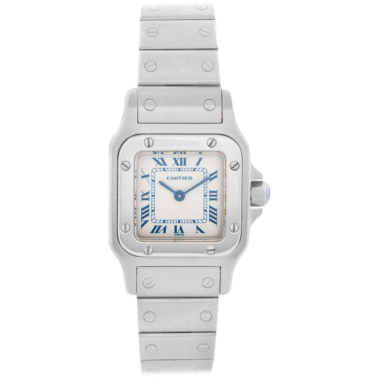 Cartier Santos Galbee Small Ladies Watch 1565 For Sale