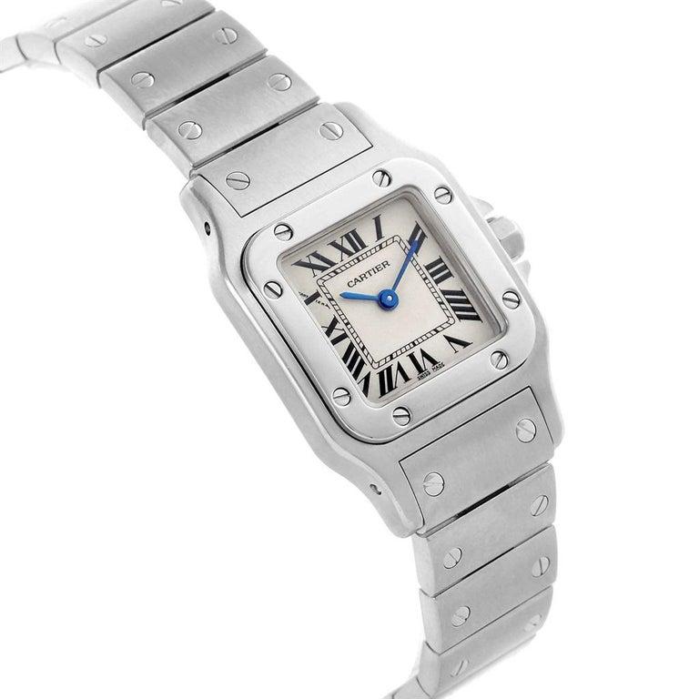 Women's Cartier Santos Galbee Small Steel Silver Dial Ladies Watch W20056D6