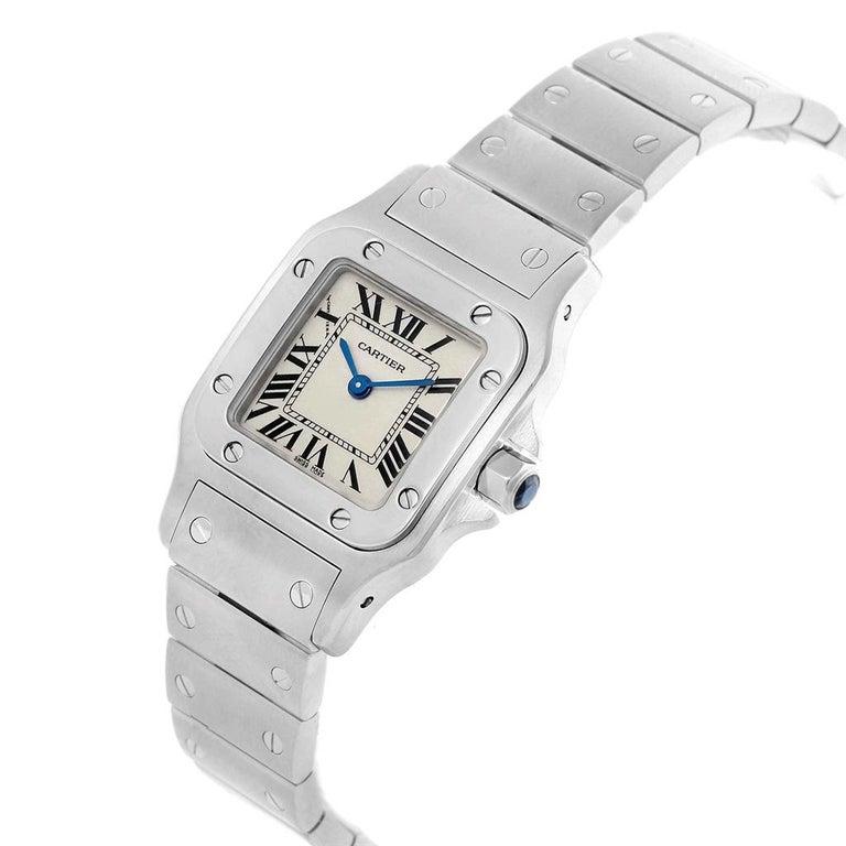 Cartier Santos Galbee Small Steel Silver Dial Ladies Watch W20056D6 2