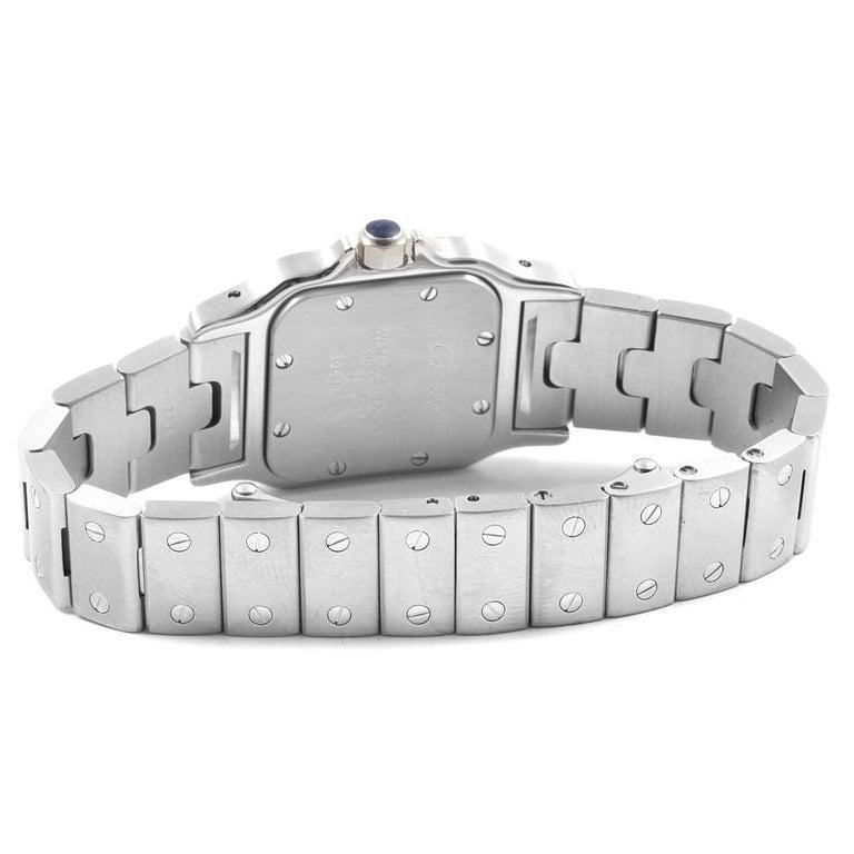 Cartier Santos Galbee Small Steel Silver Dial Ladies Watch W20056D6 3