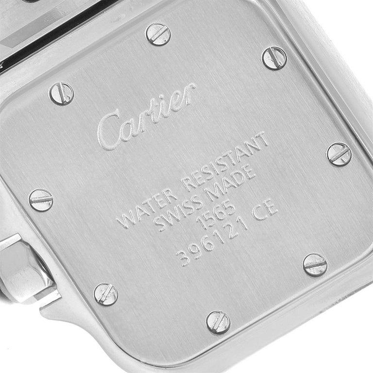 Cartier Santos Galbee Small Steel Silver Dial Ladies Watch W20056D6 4