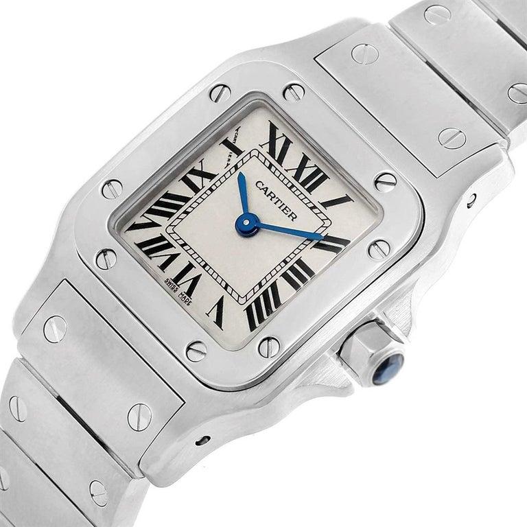 Cartier Santos Galbee Small Steel Silver Dial Ladies Watch W20056D6 5