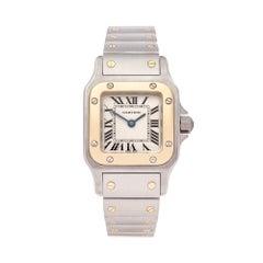 Cartier santos galbee stainless steel & 18k Yellow gold 1567 Ladies wristwatch