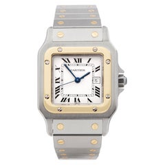 Cartier Santos Galbee Stainless Steel and Yellow Gold 4812