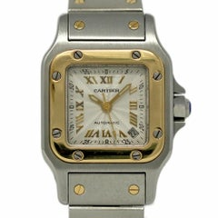Cartier Santos Galbee Stainless Steel Yellow Gold Automatic 2423 2 Year Warranty