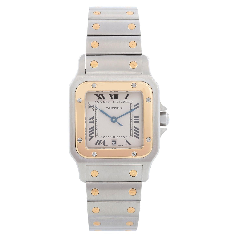Cartier Santos Galbee Steel and Gold Men's Quartz Watch