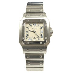 Cartier Santos Galbee Steel Large Quartz Wristwatch