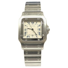 Cartier Santos Galbee Steel Large Quartz Wristwatch