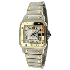 Cartier Santos Galbee W20011C4 18 Karat Gold and Stainless Quartz Watch