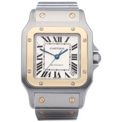 Cartier Santos Galbee W20099C4 or 2823 Men's Stainless Steel & Yellow Gold Watch