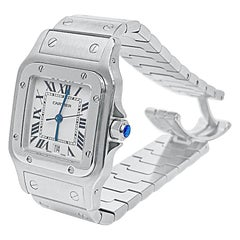 "Cartier ""Santos Galbee XL"" Dial Stainless Steel Unisex Watch"