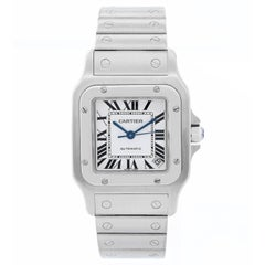 Cartier Stainless Steel Santos Galbee Extra Large Automatic Wristwatch