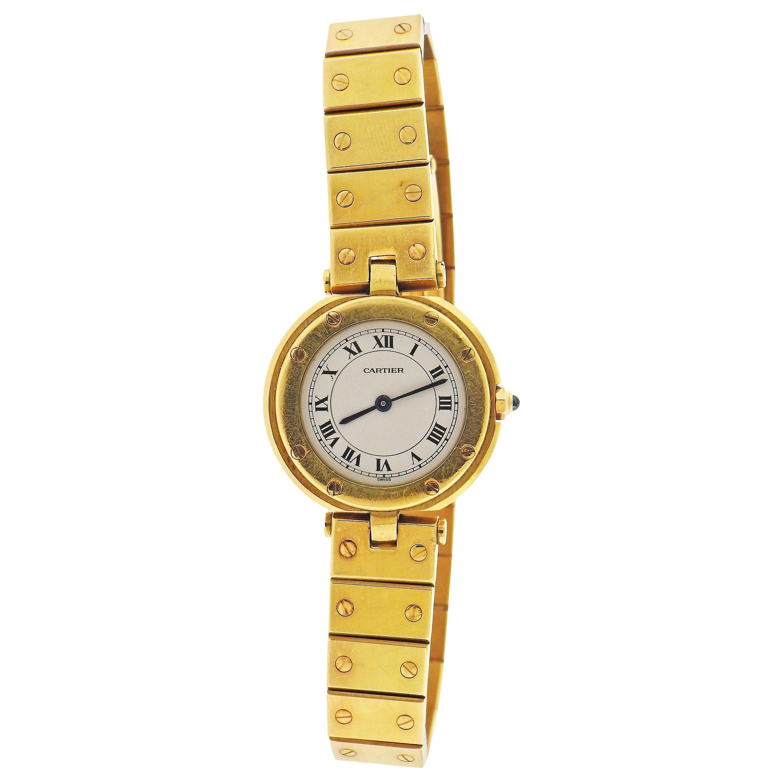 Cartier Santos Gold Watch