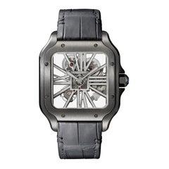 Cartier Santos Hand-Wound Mechanical Movement Steel Watch WHSA0009