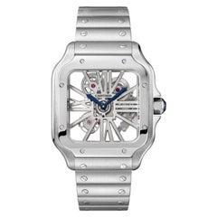 Cartier Santos Hand-Wound Mechanical Movement Steel Watch WHSA0015