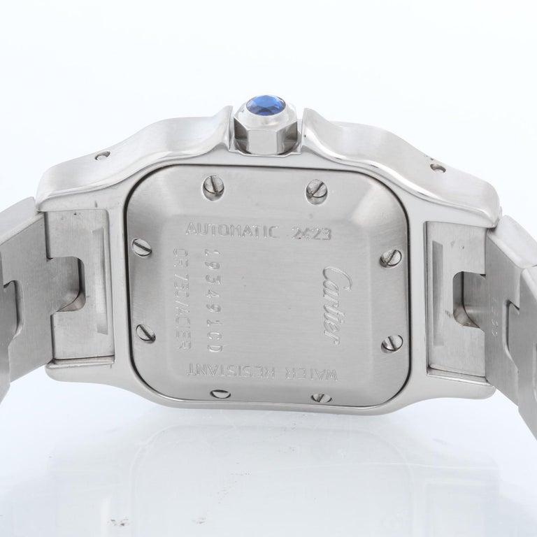 Women's Cartier Santos Ladies Steel & Gold 2-Tone Automatic Watch 2423 For Sale