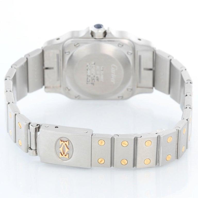 Cartier Santos Ladies Steel & Gold 2-Tone Quartz Watch 16336 In Excellent Condition In Dallas, TX