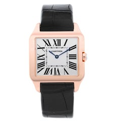 Cartier Ladies Rose Gold Santos Dumont Quartz Wristwatch Ref W2009251