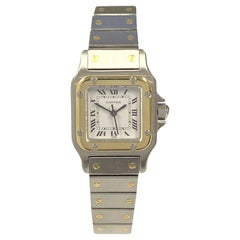 Cartier Santos Ladies Stainless Steel and 18K Gold Self Winding Wrist Watch
