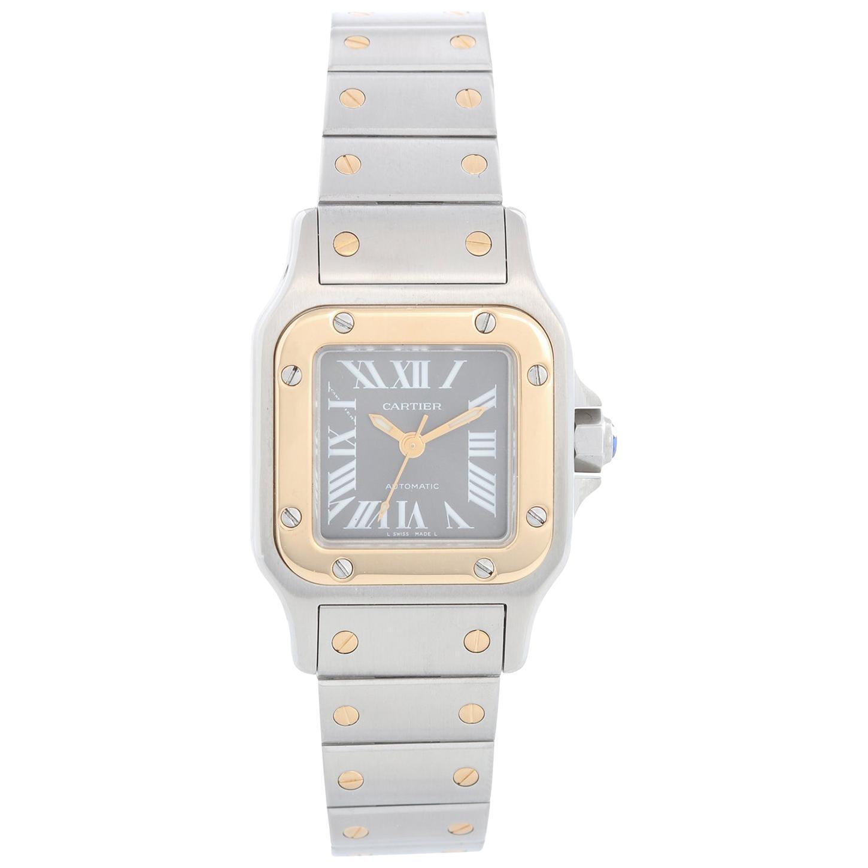 Cartier Santos Ladies Steel & Gold 2-Tone Automatic Watch 2423