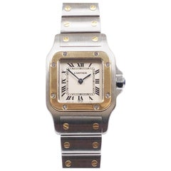 Cartier Santos Ladies Yellow Gold and Stainless Steel Quartz Wristwatch