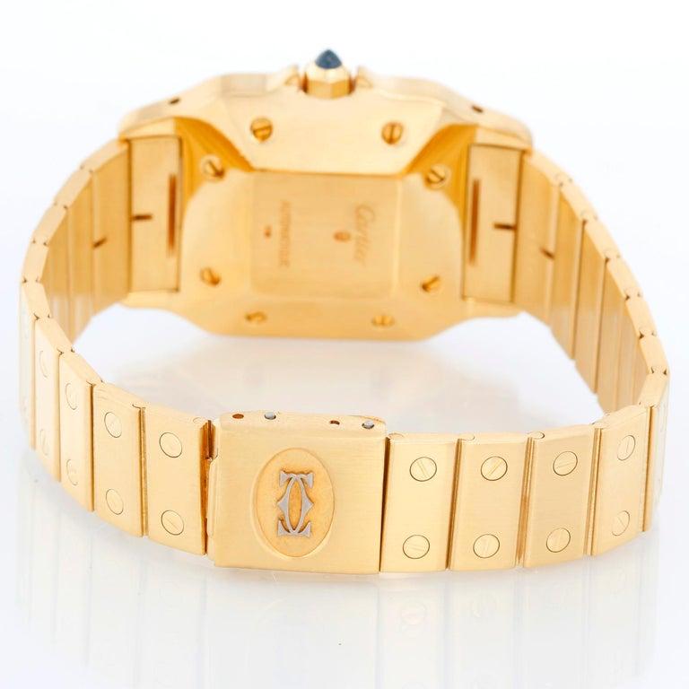 Cartier Santos Men's 18k Yellow Gold Watch W20010C5 In Excellent Condition For Sale In Dallas, TX