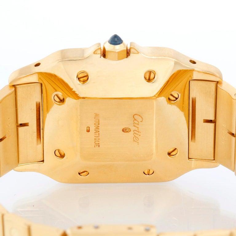Cartier Santos Men's 18k Yellow Gold Watch W20010C5 For Sale 1
