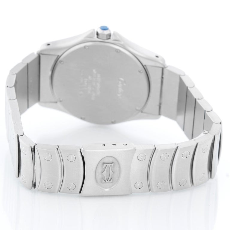 Cartier Santos Men's/Ladies Midsize Stainless Steel Automatic Watch In Excellent Condition For Sale In Dallas, TX