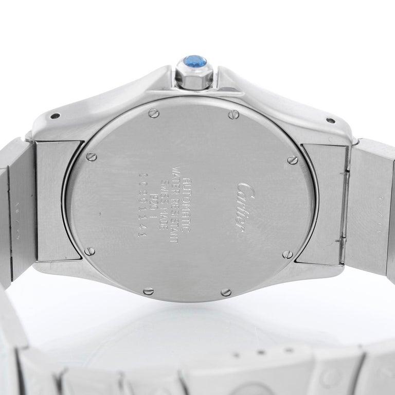 Women's or Men's Cartier Santos Men's/Ladies Midsize Stainless Steel Automatic Watch For Sale