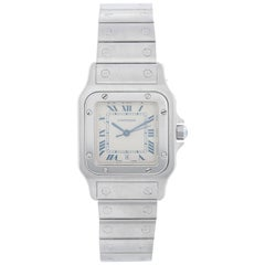 Cartier Santos Men's Stainless Steel Quartz Watch with Date