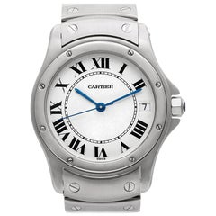 Cartier Santos No-Ref#, White Dial, Certified and Warranty