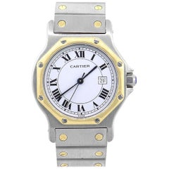 Cartier Santos Octagon White Dial Ladies Watch