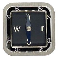 Limited Edition - Rare Cartier Santos Palladium Compass with Brass Dial