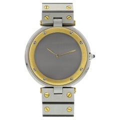 Cartier Santos Ronde 18 Karat Yellow Gold and Stainless Steel