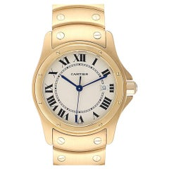 Cartier Santos Ronde 18 Karat Yellow Gold Unisex Watch W20028G1