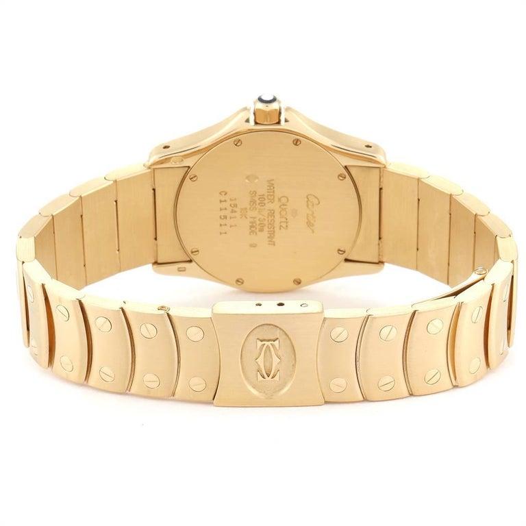 Cartier Santos Ronde 18 Karat Yellow Gold Unisex Watch W20028G1 For Sale 3