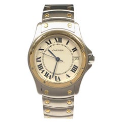Cartier Santos Ronde Large Steel and Gold Automatic Wrist Watch