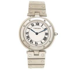 Cartier Stainless Steel Santos Ronde Large Quartz Wristwatch