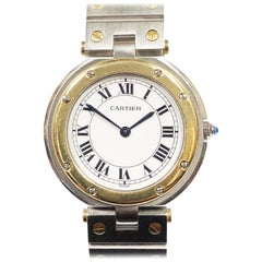 Cartier Santos Ronde Steel and Yellow Gold Large Quartz Wristwatch