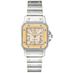 Cartier Santos Small Steel Yellow Gold Automatic Ladies Watch W20057C4